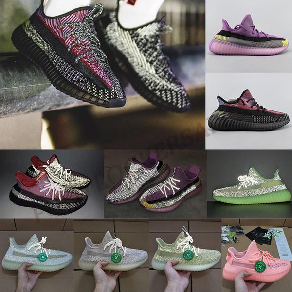 YECHEIL Sitrin Bulut Beyazı Tasarımcı Kanye West Pompa Yeehu Lundmark Glow Yeşil Siyah Yansıtıcı Eğitmenler Sneakers Stok X Koşu Ayakkabıları