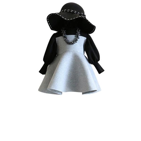 2019 New Spring Item Girl Fashion One Piece Long Sleeve Dress Princess Dress