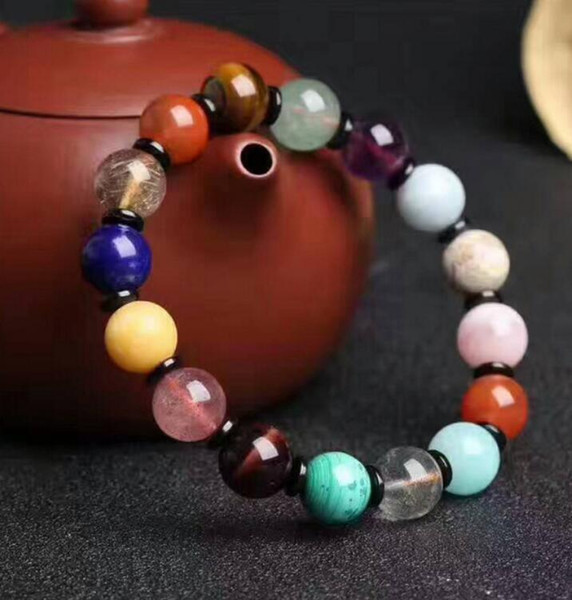FREE SHIPPING Factory direct Natural Crystal Charm Bracelet Red Gold Bracelet Jewelry treasure South transport