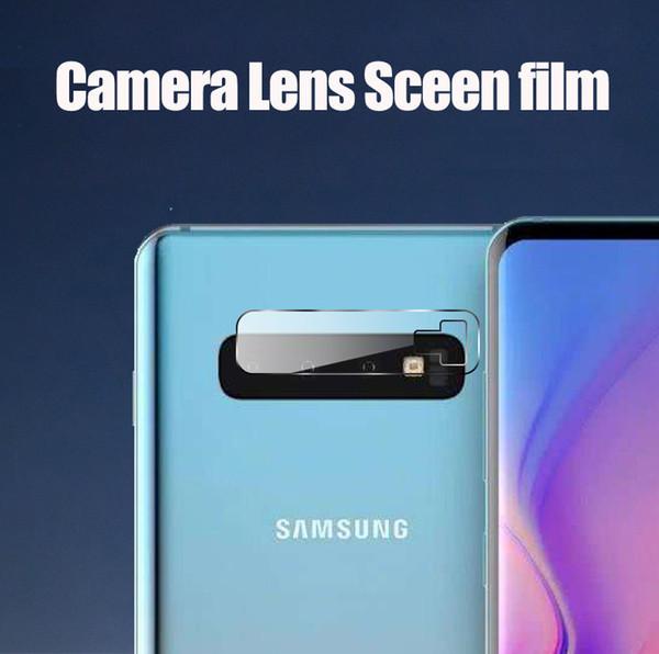 Lente de la cámara de vidrio templado para Samsung Galaxy S10 S10 + Cámara de cristal protector de pantalla trasera Protector de película para S10e S10Plus M10 M20