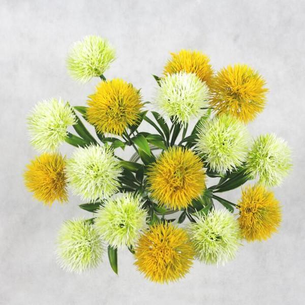 tige unique pissenlit Fleurs Artificielles pissenlit En Plastique Fleur décorations De Mariage Mariée Bouquet Partie Home Decor 5 Couleurs CFYZ36