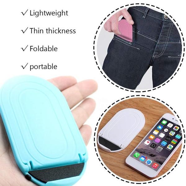 Adjustable Stand Mini Holder Mount Universal Foldable Cradle PortablePlastic Stand Desktop Multi-Angle for Phone Tablet iPad Kindle