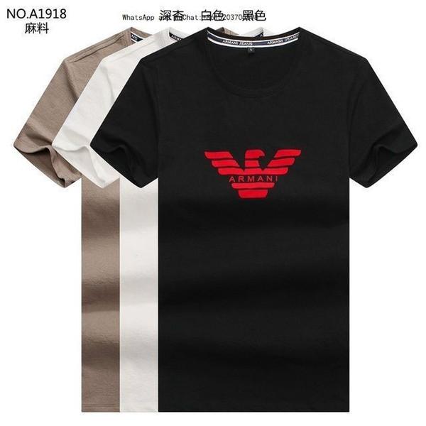 Mann Kurzarm T-shirts Elastische Kraft Ganze Baumwolle Korean Edition Reine Farbe Leere Druck Dünne Männliche Kleidung 2019-2