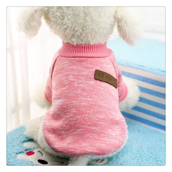 Cão Vestuário Clássico Blusas Pet Filhote de Cachorro Roupas de Inverno Quente e Macio Casaco Jaqueta Casaco Hoodies Para Chihuahua Yorkie Cães À Prova de Poeira
