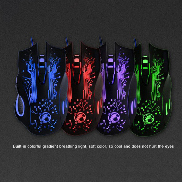 X9 LED Optical Mouse 6 Buttons USB Wired Gaming Mouse for Computer Professional Gamer for PC Laptop Plug and Play