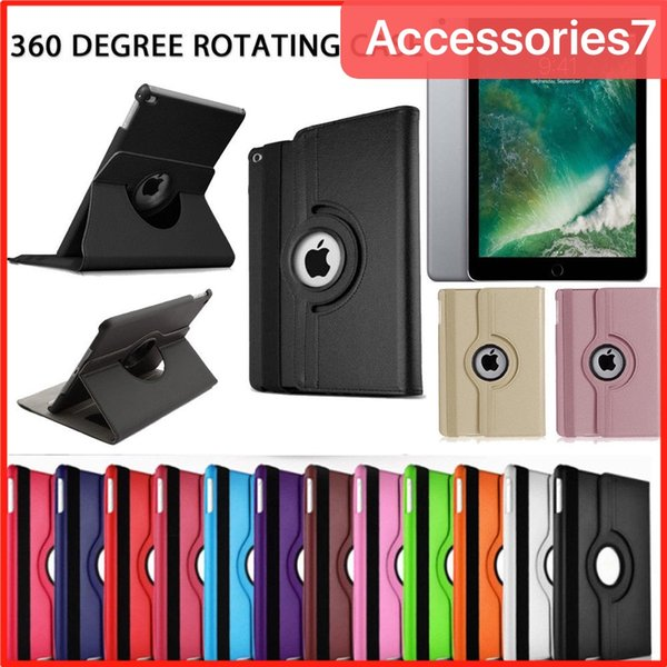 Luxury Smart 360° Rotating Flip Leather Stand Holder Shockproof PC iPad Case Cover For Apple iPad 2 3 4 5 6 Air 2 Mini 1 2 3 4 Pro 9.7 10.5