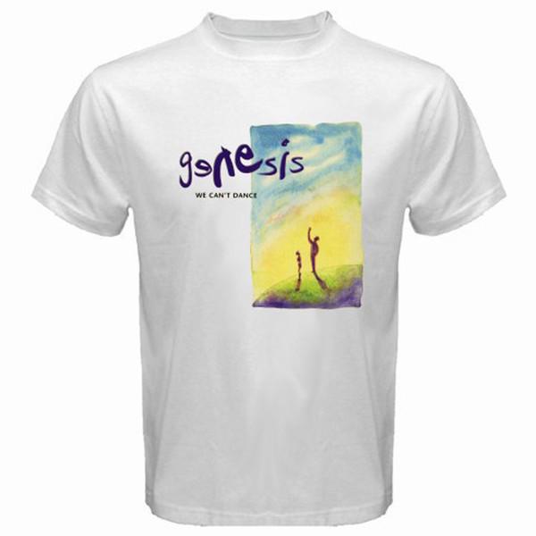 GENESIS We Can't Dance PETER GABRIEL PHIL COLLINS Men's White T-Shirt Size S-3XLMen Women Unisex Fashion tshirt Free Shipping