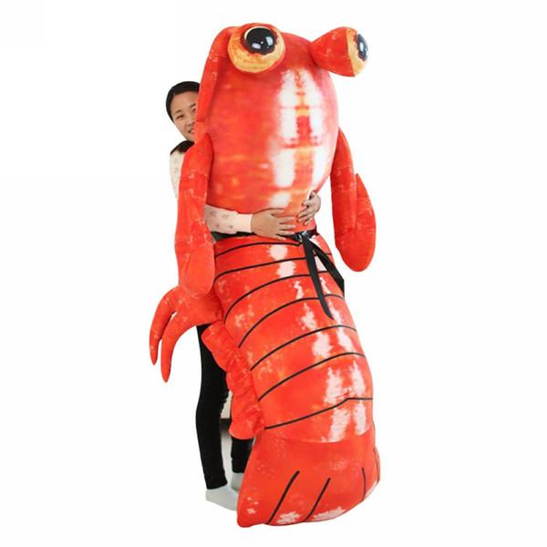 Fancytrader Jumbo Pop Anime Mantis Camarão Brinquedo de Pelúcia Gigante De Pelúcia Macia Simulado Animais Marinhos Lagosta Boneca para Adultos e Crianças