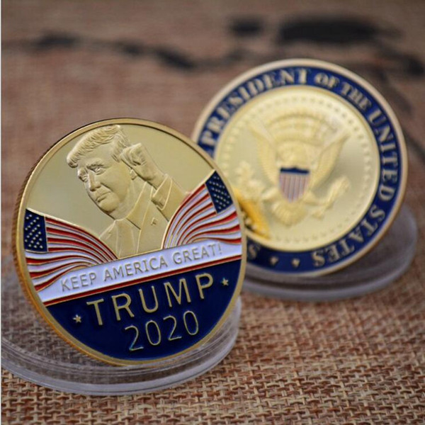 best selling Trump Speech Commemorative Coin America President Trump 2020 Collection Coins Crafts Trump Avatar Keep America Great Coins BH2309 TQQ