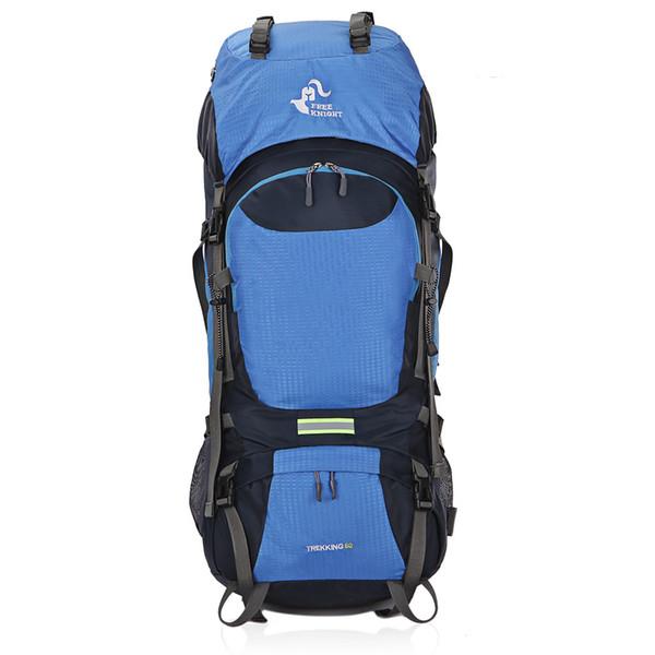 60L Grande Capacidade Montanha Camping Mochila Impermeável Ao Ar Livre Caminhadas Mochila Com Capa de Chuva Respirável Esporte Mochila