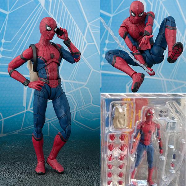 2017 Nova Spiderman série Homem-Aranha Ação PVC Figura Collectible Modelo Presente de Natal brinquedo para crianças 15 centímetros T191022