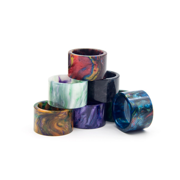 best selling 2 Types Resin Drip Tips Fit TFV16 Tank Wide Bore Honeycomb Epoxy-Resin Metal Mouthpiece Tip Vape E cigarette Accessories DHL Free