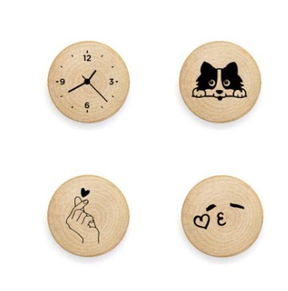 Bottle Opener Fridge Magnets Wood Magnets Whiteboard Sticker Refrigerator Magnets for Home Decoration Kids Gift