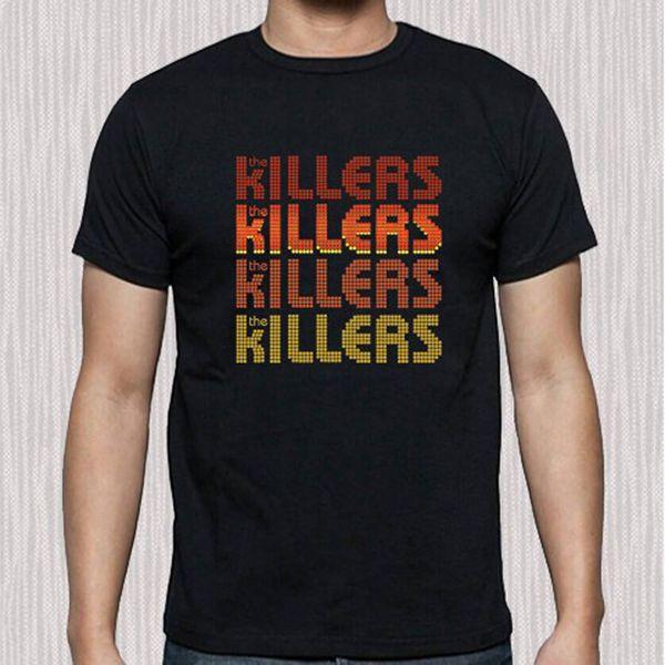 7a3bf58b3f104 The Killers American Rock Band Logotipo dos homens T-Shirt Preta Tamanho S  para 3XL