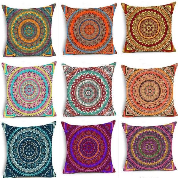 Page One Federa per cuscini in federa di lino in cotone di lino in stile etnico vintage bohemien