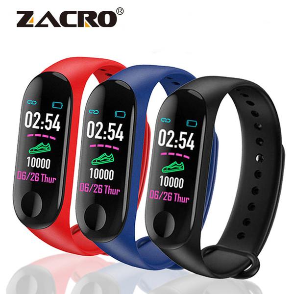 M3 Blood Pressure impermeável ao ar livre inteligente Pulseira Pulseira Saúde Sport Heart Rate Monitor Passo Contador de Fitness Rastreador Assista