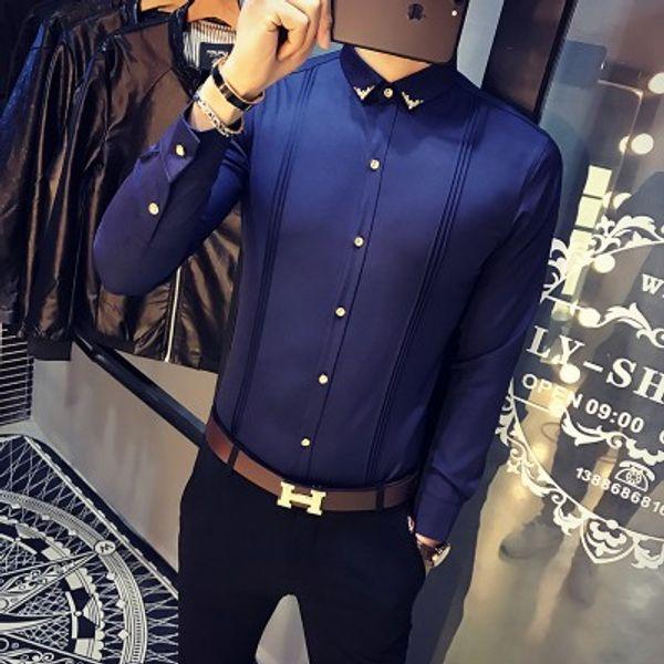 Camicia blu scuro Men