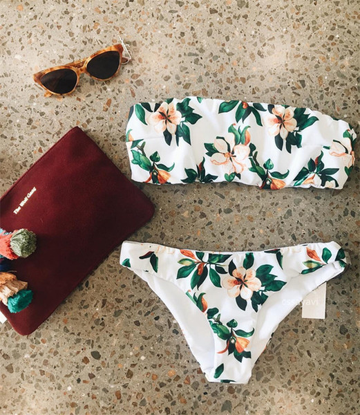 A11S091 china supplier women swimsuit sexy Two pieces Flower printing bikini swim suit high Quality floral swimwear women sexy bikini