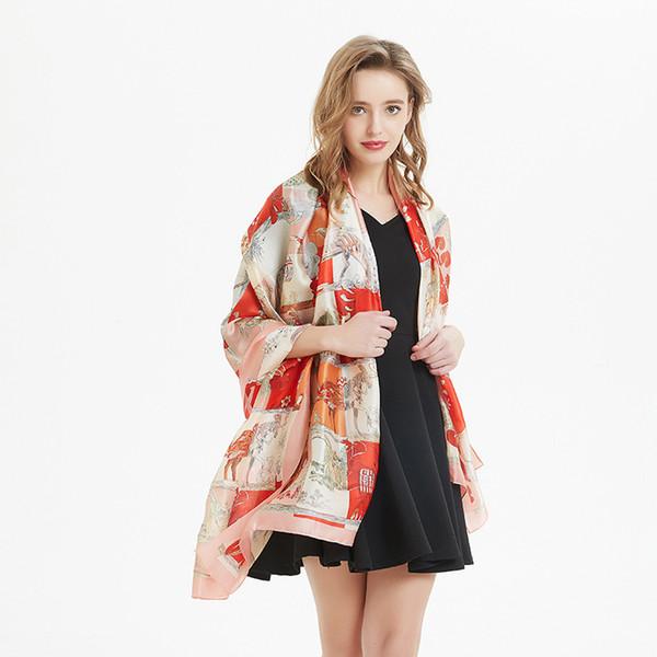 2019 European and American fashion new beach towel sunscreen seaside scarf ladies summer casual multicolor shawl