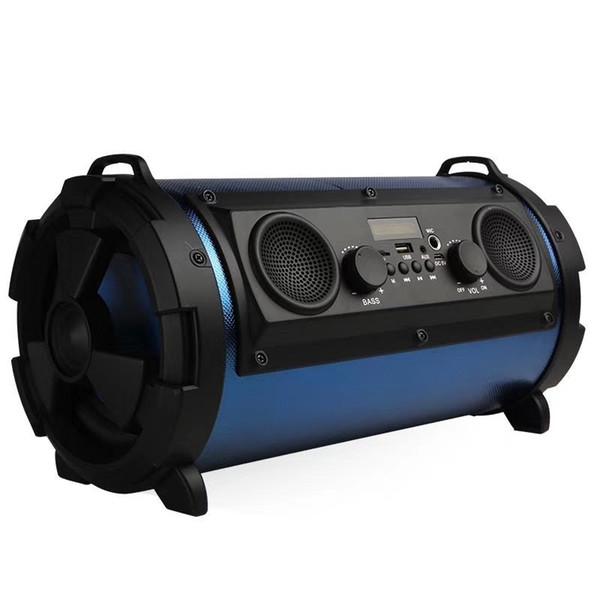 Yeni taşınabilir açık bluetooth 15 W subwoofer çok fonksiyonlu kart mikrofon hoparlör, mikrofon telefonu subwoofer desteği FM radyo ve TF kart
