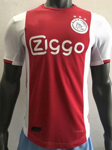 2019 Ajax soccer jersey PLAYER VERSION TADIC ZIYECH DE JONG DOLBERG HUNTELAAR SCHONE VAN DE BEEK DE LIGT 2020 champions football kit shirt
