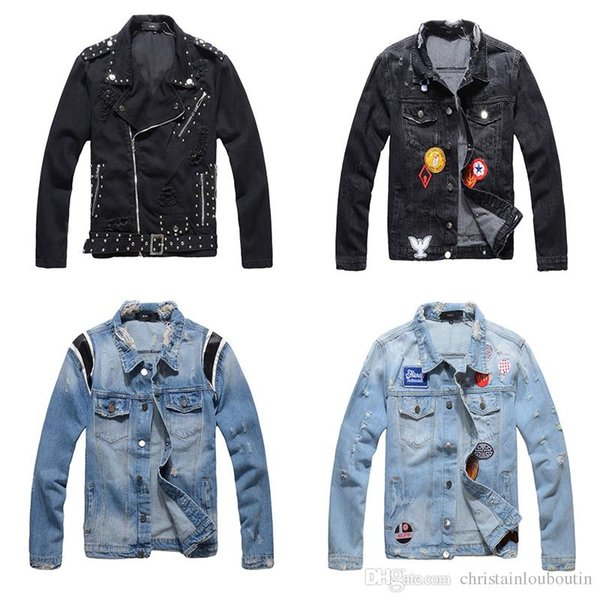 Jackets Denim Summer Men's Denim Causual Fashional For women Jean Clothing Skate Board Jogger Ankle Ripped Wave Free Shipping M-4XL