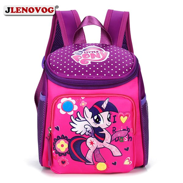 bf60fd0e81 My Little Pony School Bags for Toddler Kids Cute Children Mini Schoolbag  Red Mickey Superman Backpack