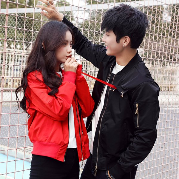 Couples autumn clothing 2019 new spring and autumn spring clothing wild trend couple jacket leather jacket