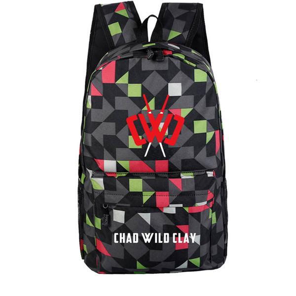 21inch CHAD WILD CLAY Bag Backpack  Rucksack Schoolbag Traveling KID Bag