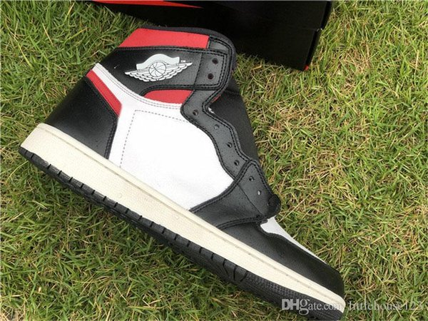 2019 Hot Authentic 1 OG High Black Gym Rosso 1S White Sail Uomo Donna Scarpe da basket Sport Sneakers 555088-061 Con scatola originale