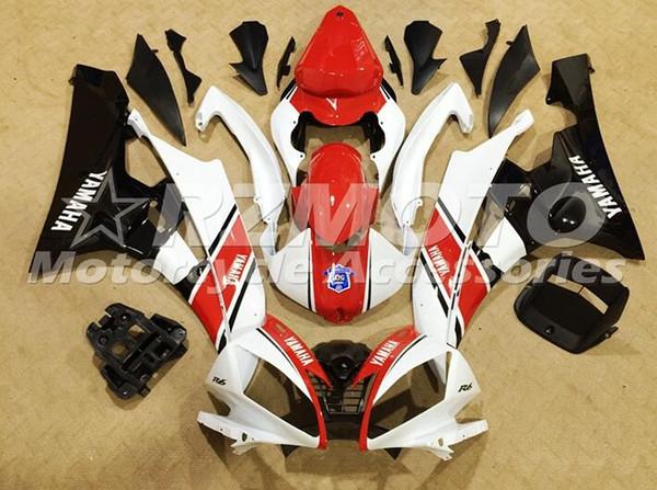 Nuevos kits de carenado ABS para moldes de inyección aptos para YAMAHA YZF-R6 06-07 YZF600 2006 2007 R6 conjunto de carrocerías Personalizado gratis rojo negro blanco
