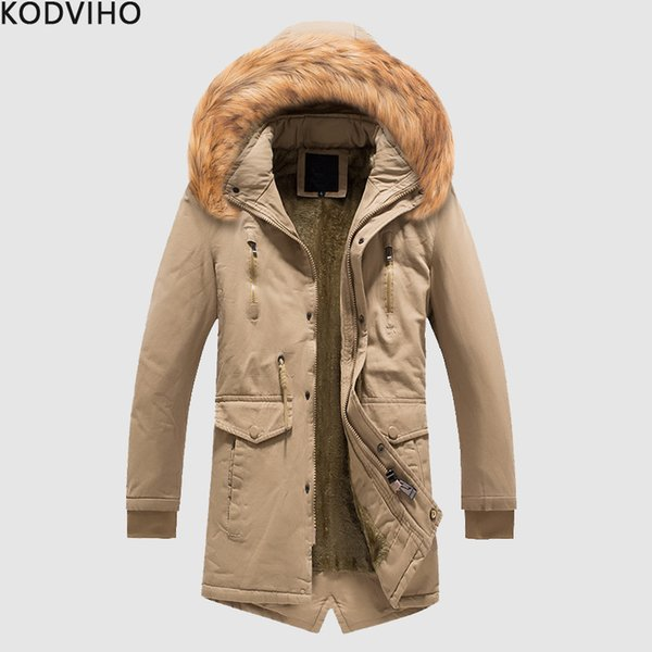 Cappotto lungo Uomo Inverno caldo con cappuccio Giacche Uomo Park Jacket Uomo Autunno streetwear Cappotto con cappello Abrigo Hombre Homme Uomo Cappotto