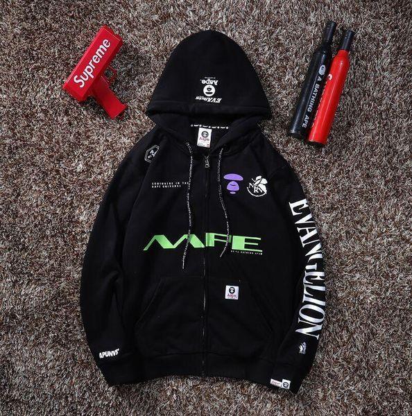 2019 mode marque hommes Evangelion hoodies automne sweat-shirts femme et l'hiver casual sportswear veste de sport à capuchon A01