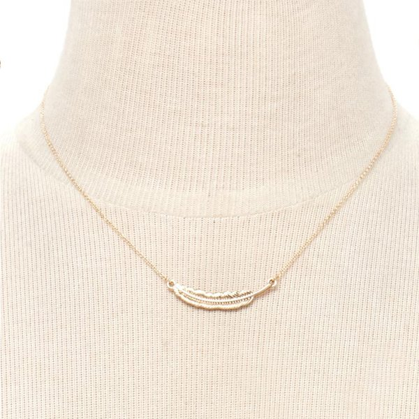 Nightclub Harry Book Wingardium Leviosa Necklace Feather Pendant Designer Necklace for Women Men Silver Gold Plated Potter Jewelry