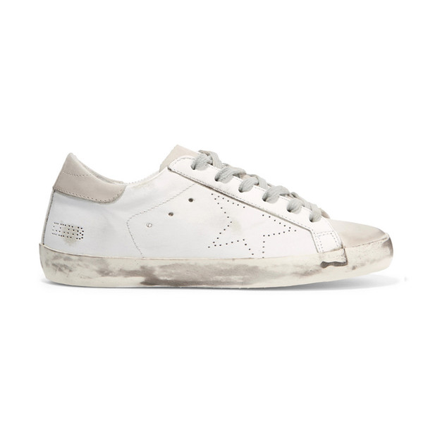 20812b0f1934 Compre Moda Kn Diseñador De Zapatos Para Hombres Mujeres Golden Goose Ggdb  Viejas Zapatillas De Deporte De Estilo Sucio Negro Blanco Zapato Casual De  ...