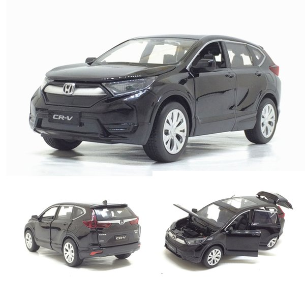 1/32 Honda Cr-v Diecasts Toy Vehicles Car Model With Sound Light Pull Back Car Toys For Children Birthday Gift Collection J190525