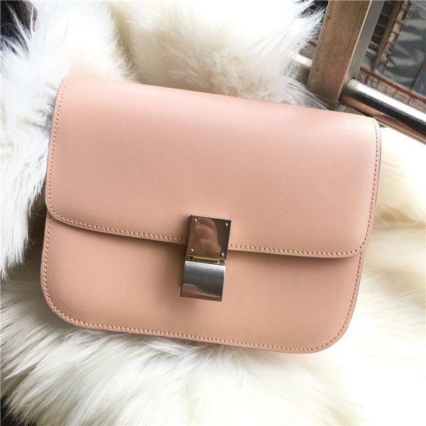 Elegant2019 Woman Leather Genuine Baotou Layer Cowhide Hand Rub Grain Bean Curd Bao Yin Buckle Leisure Time Joker Single Shoulder Span