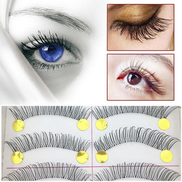 10 paires de maquillage main mode naturel faux cils doux long œil cils outils cosmétiques