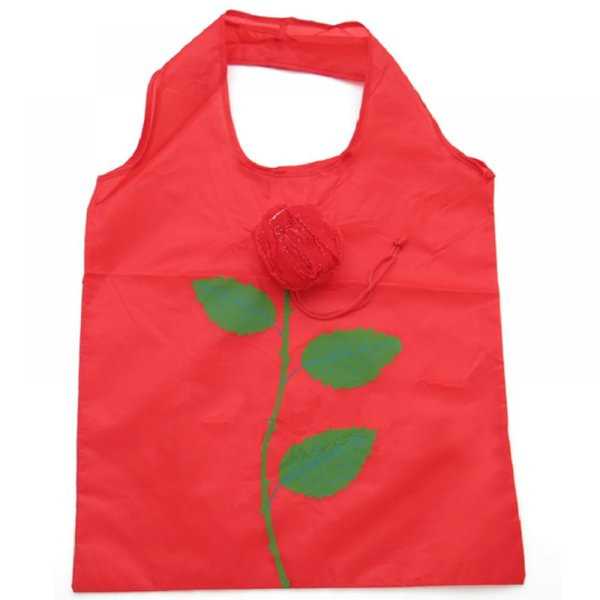 1PC Popular Nylon Rose Flowers Handbag Reusable Folding Shopping Bag Tote Eco Grocery Storage Bags Outdoor
