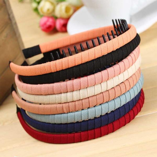 Tocado de Corea pequeño adorna el artículo cinturón diente diente ropa arte fino borde pelo aro