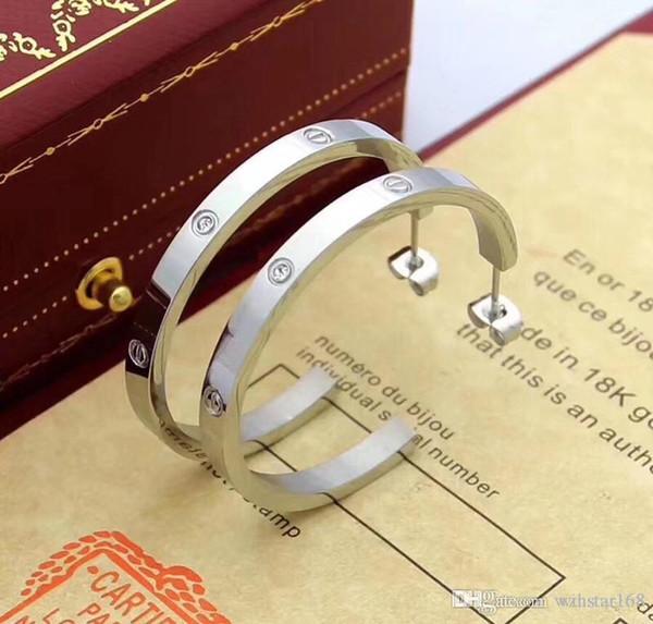Mode de luxe célèbre marque Stud jewerly fil en acier titane Boucles d'oreilles en or 18 carats en acier inoxydable plaqué classique Amour Boucles d'oreilles