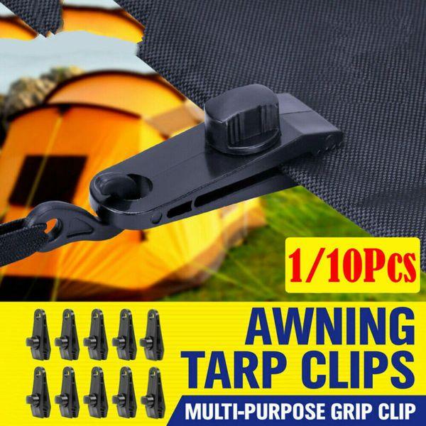 10pcs Tenda Tarp pinza Set clip Tenda gancio di sopravvivenza di campeggio esterna Baldacchino morsetto Emergency Kit Grommet