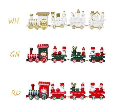 Decoraciones navideñas Bosques Pequeño Tren Niños Kinder Festivo