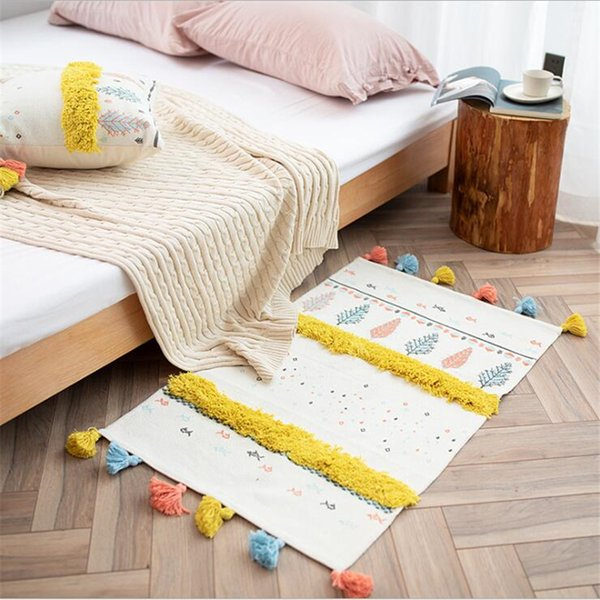 Soft Nordic Style Cotton Carpets For Living Room Bedroom Kid Room Rugs Home  Carpet Floor Door Mat Decorate House Table Area Rug Carpet Installations ...