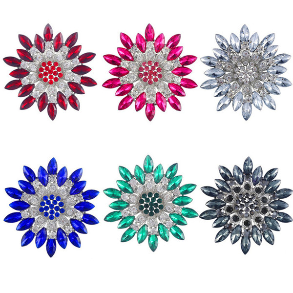 10 pcs/bag flower shape 18 kinds be choosed Brooch Collar Needle free shipping wholesale