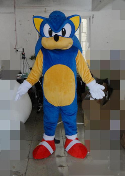 Quality New Sonic Mascot Costumes Christmas Halloween Outfit Fancy Suit Free Shipping Sonic The Hedgehog