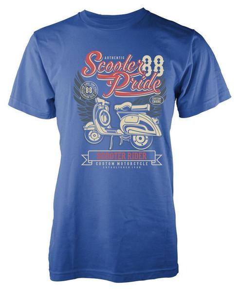 BNWT SCOOTER PRIDE CLASSIC BIKE VINTAGE MOTOR VESPA ADULTE T-SHIRT S-XXL Drôle livraison gratuite Unisexe Casual T-shirt