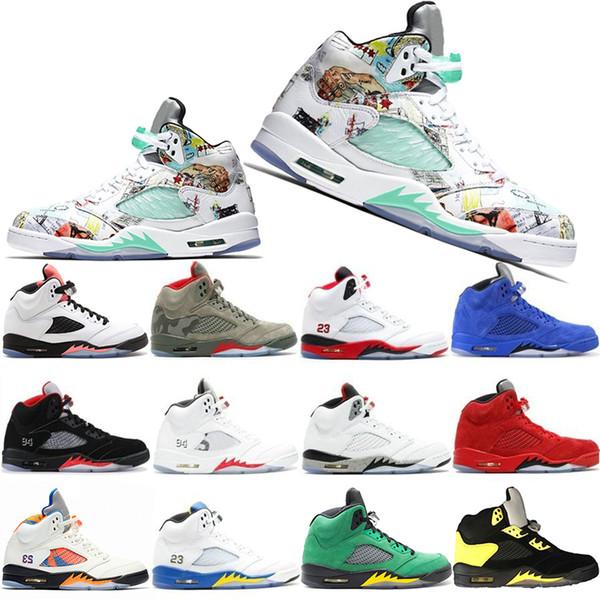 Novo Clássico 5 5 s Mens Sapatos De Basquete Camo Luz Aqua Oregon Patos Preto Metálico Sapatos de Alta Qualidade Designer de Sapato Esportes Dos Homens Sapatilhas Sapatilhas