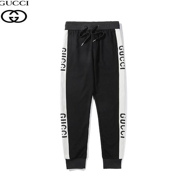 19SS-20 # Nouvelle arrivée luxurio Marque XXLGUCI Logo rayé pantalons décontractés Hommes Femmes Respirable tendance Mode Streetwear Pantalons de plein air