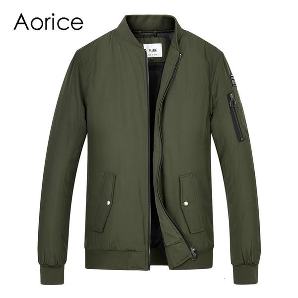 Aorice Men spring winter baseball uniform coat flying jacket women&men boys' Pilot suit army green black cloth QY905 T190907